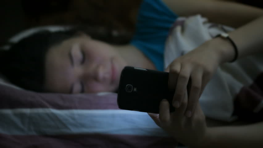 Cute girl texting with a mobile phone, friends, nowadays #8914843