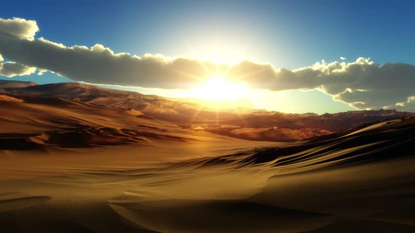 Fly over desert sunset   Shutterstock HD Video #8921353