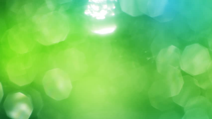 Stockvideoklipp Pa Green Abstract Lights Bokeh Seamless Helt
