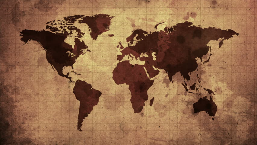 Vintage grunge world map animation stock footage video 5426264 vintage map of the world old paper background with earth map seamless loop gumiabroncs Gallery