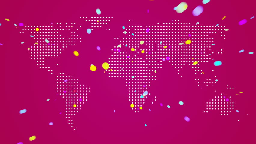 Abstract world map with light beams and colorful dots ideal for abstract world map with light beams and colorful dots ideal for technology broadcast background gumiabroncs Choice Image