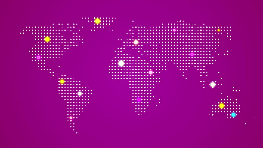 Abstract world map with route lines and colorful dots ideal for abstract world map with route lines and colorful dots ideal for technology broadcast background color earth map different colors in my profile gumiabroncs Choice Image