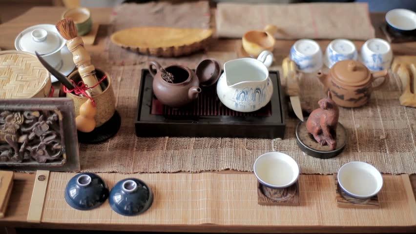 Master of tea in tea ceremony