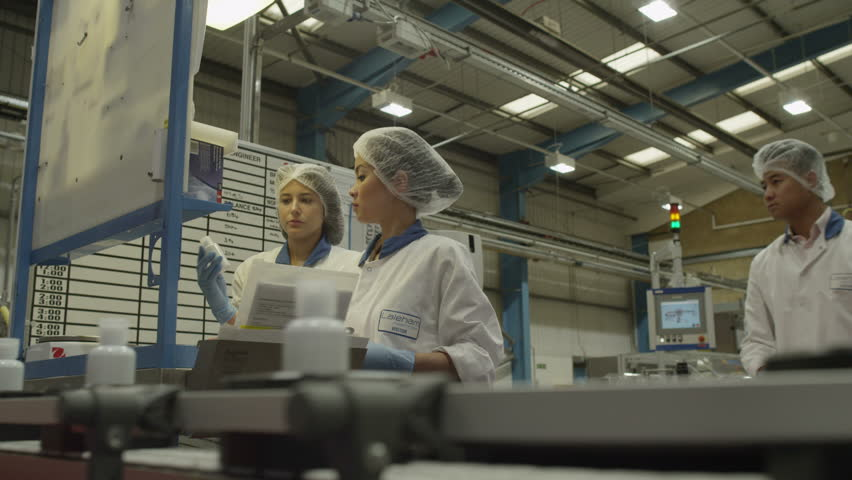 4k Pharmaceutical Manufacturing Facility Factory. Stock ...