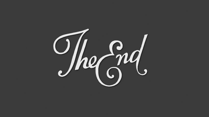 Animation Of A Retro Vintage Old Fashioned End Title As Seen In 1920s Silent Movies