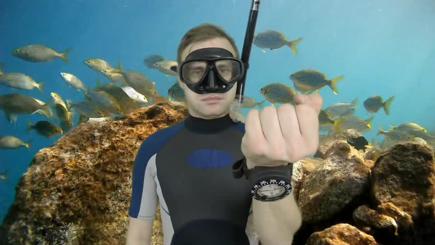 Diving sign- divemaster  shows sing  ASK QUASTIONS  ,also a available on the green screen all of diving sings from course (open water diver)  4   of 11