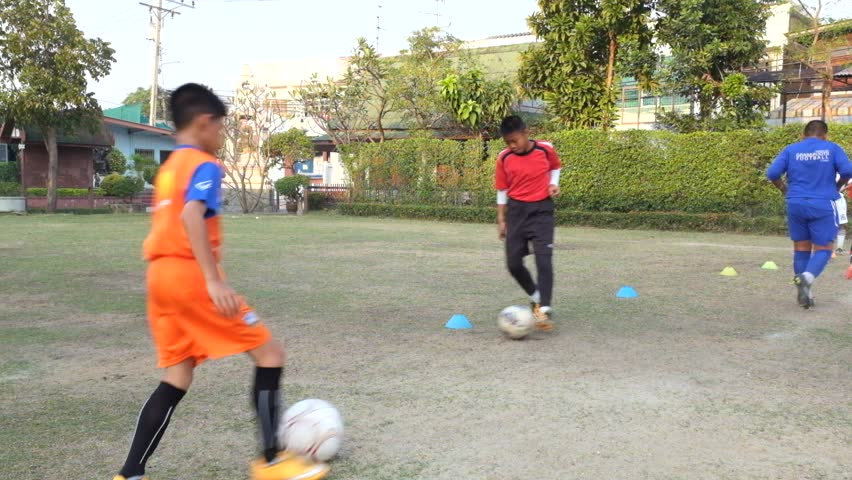 Image result for kids learning soccer thailand