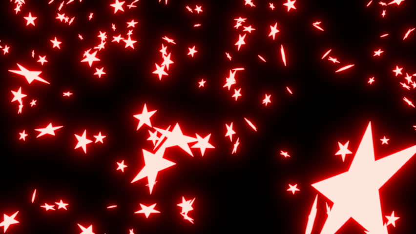 Red Stars Background Animated Fallin...
