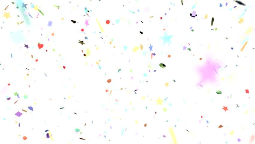 Confetti Shapes Falling Slow Motion Dof Loop On White Stock Footage Video 9195563 Shutterstock