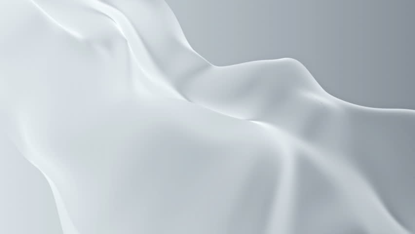 Abstract background waving with white silk to the wind. Clear backdrop of ripple white fabric. Beautiful abstraction of glowing cloth.