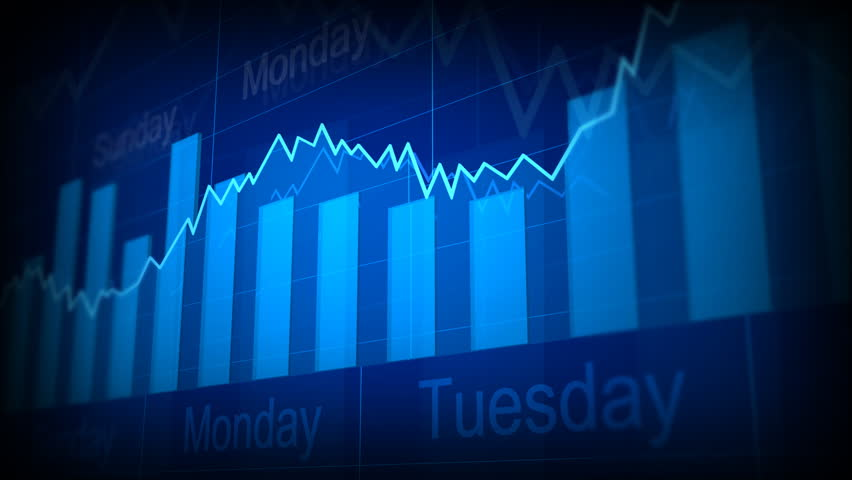 Computer-rendered animation for financial TV Channel with histogram and date.  | Shutterstock HD Video #925303