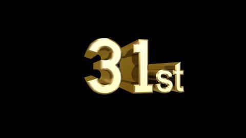 Days flying logo. 31