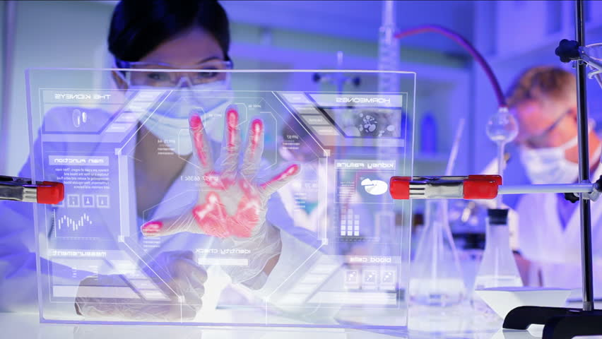 medical laboratory healthcare motion graphics touchscreen technology kidney HUD