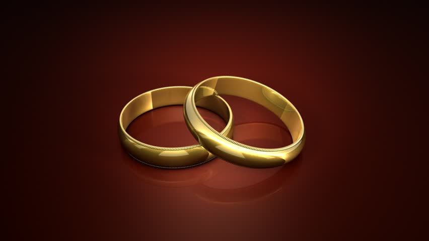 civil partnership wedding rings conceptual animation with