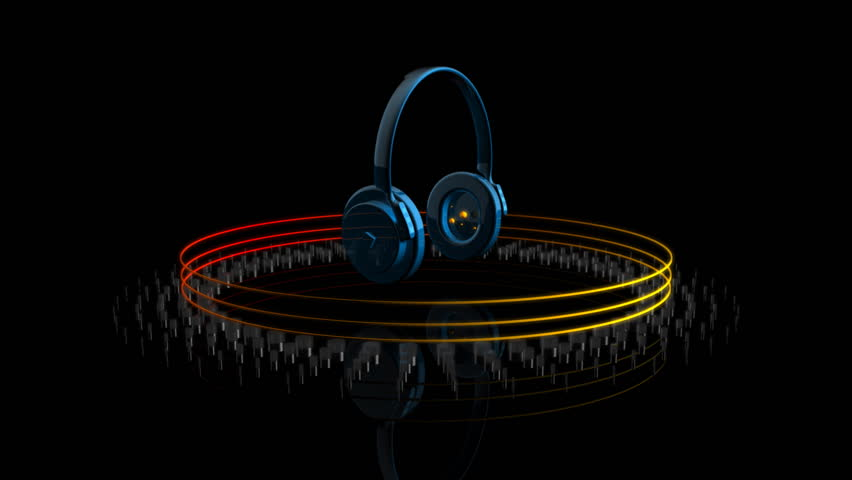 Headphones Playing Music and Equalizer Stock Footage Video (100%  Royalty-free) 927913   Shutterstock