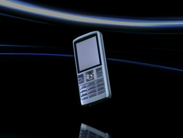 Animated cellphone with incoming call alert