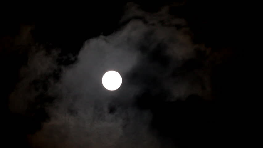 Timelapse of moon moving between clouds | Shutterstock HD Video #933793