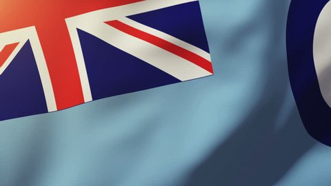 Royal Air Force flag waving in the wind. Looping sun rises style.  Animation loop