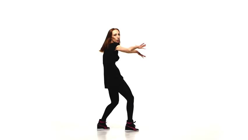 Attractive Red Athletic Girl Dancing Stock Footage Video (100%  Royalty-free) 9379253 | Shutterstock