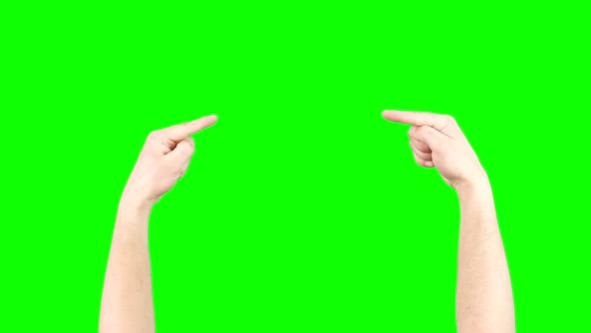 Pointing Hand And Thumbs UP Hands On Green Screen Chroma Key   Shutterstock HD Video #9389033