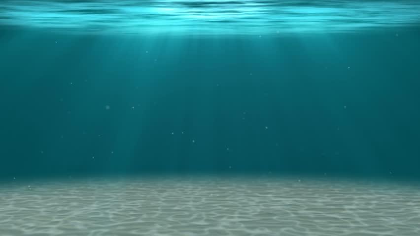 Ocean Water Background hd - deep water. underwater background (loopable) stock footage