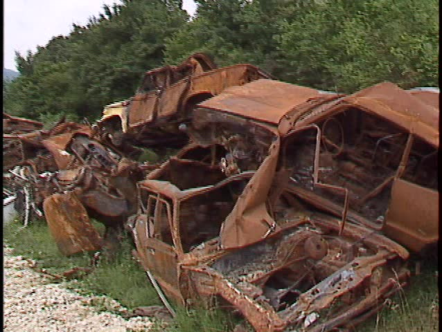 Car Wrecks Piled up in Stock Footage Video (100% Royalty-free) 9433    Shutterstock
