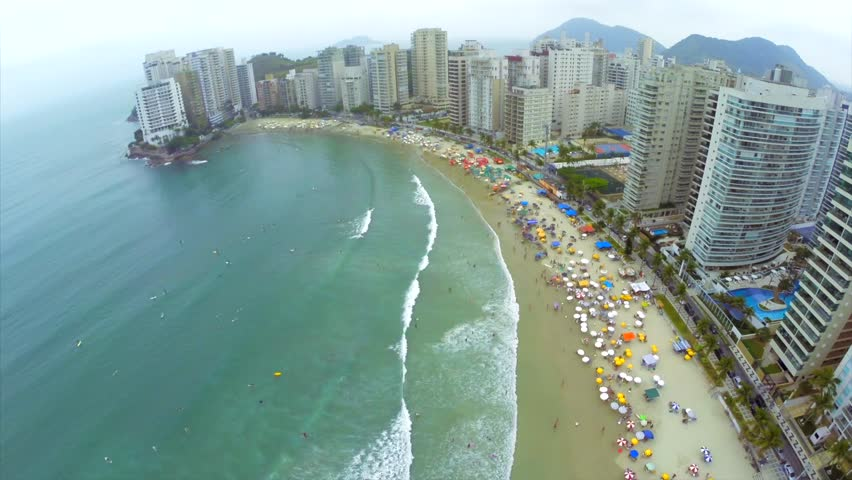 Rock In Guaruja Sao Paulo Brazil Stock Footage Video 7587724