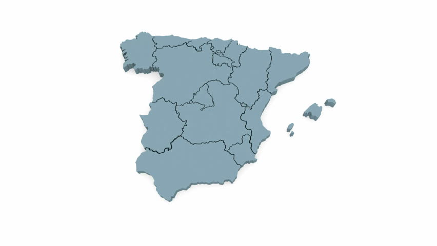 3d Map Of Spain.Three Dimensional Map Of Spain 3d Stock Footage Video 100 Royalty Free 9490193 Shutterstock