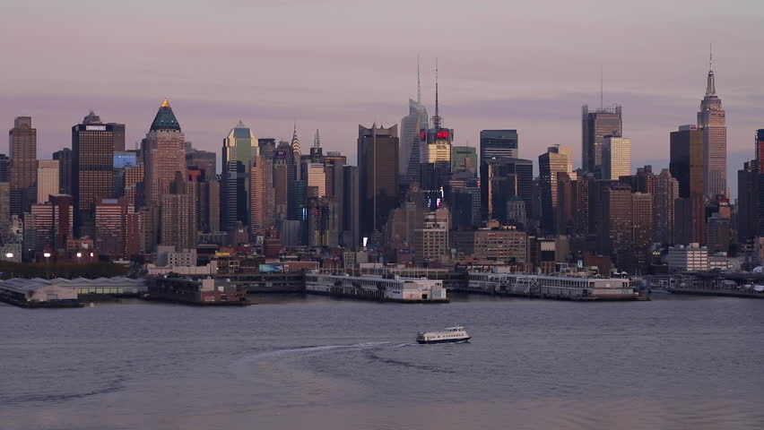 New York - CIRCA NOVEMBER 2014: View of Midtown Manhattan across the Hudson River, New York, United States of America | Shutterstock HD Video #9508703