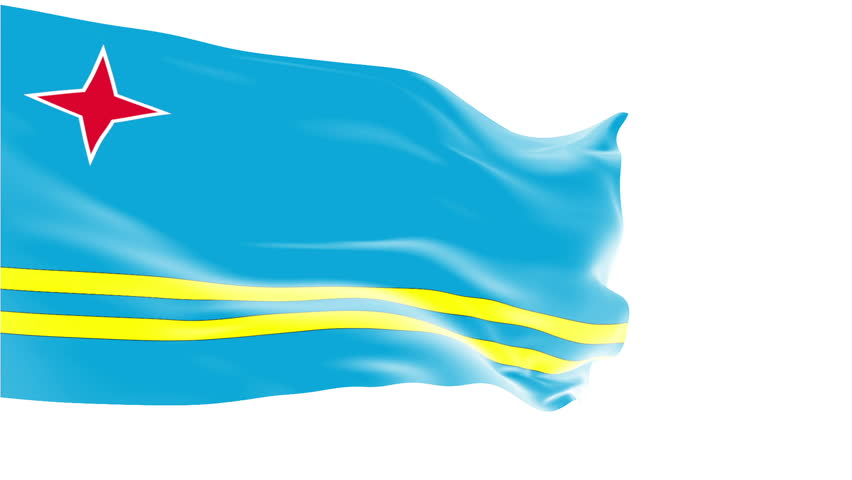 Isolated D Waving Flag Of Democratic Republic Of The Congo On - Aruba flags