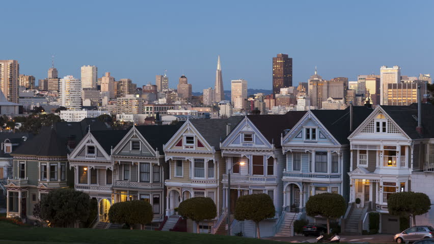 sunny day home office. 4K Time Lapse Close Up Sunset Of The Painted Ladies In San Francisco With Skyline Sunny Day Home Office S