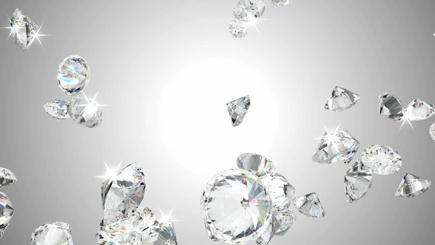Large Diamonds Flow In Slow Stock Footage Video 100 Royalty