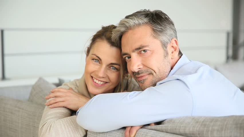 Couple Mature portrait of mature couple relaxing stock footage video (100% royalty