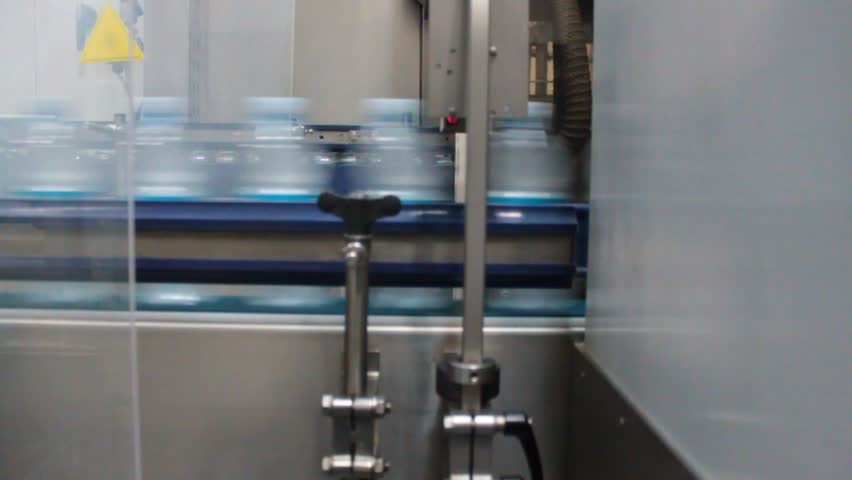 Internal factory production mineral water with industrial machinery  | Shutterstock HD Video #9610283