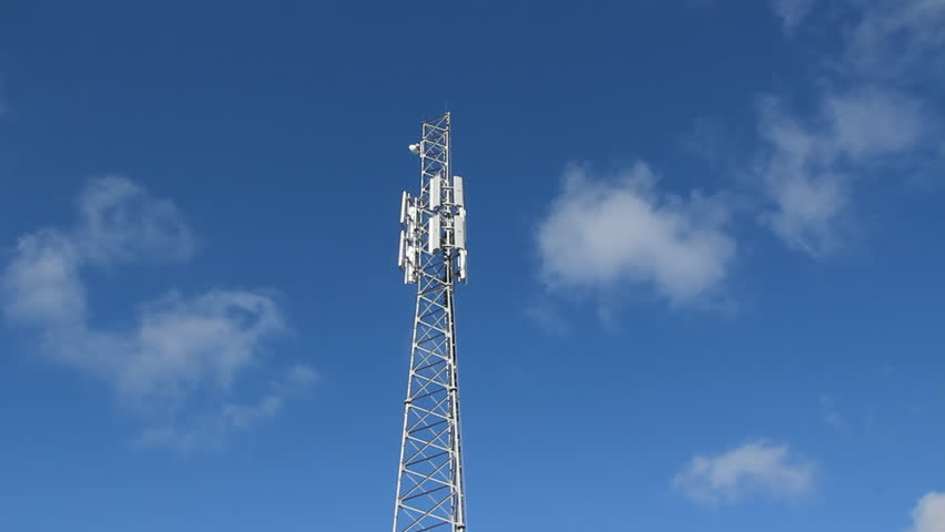 Cellphone tower. Real time clouds.