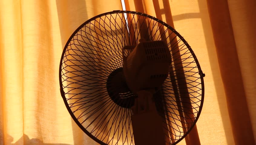 Electric Fan, silhouette