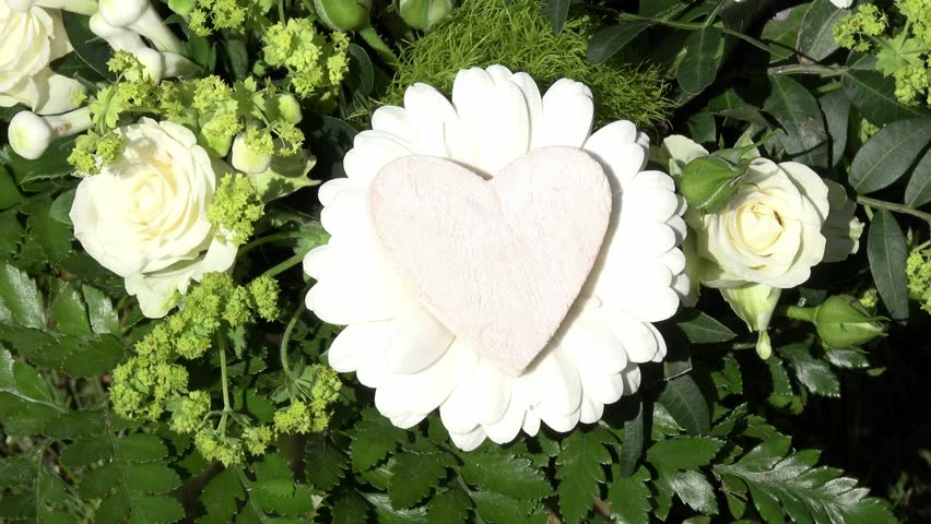 white heart with white roses #9651023