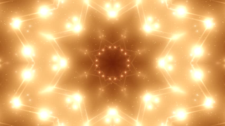 Fractal orange kaleidoscopic background. Background motion with fractal design. Disco spectrum lights concert spot bulb. More sets footage in my portfolio | Shutterstock HD Video #9664613