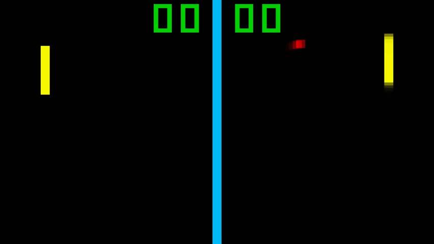 TV Tennis retro style game pixelated graphics | Shutterstock HD Video #9682622
