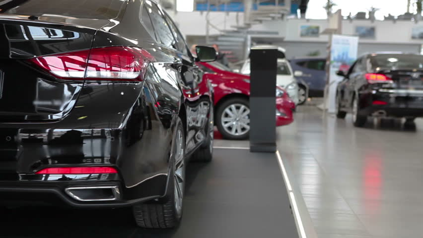Vehicles exhibition in luxury car dealership showroom | Shutterstock HD Video #9711926