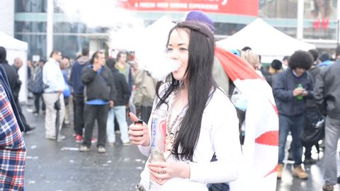 TORONTO/ONTARIO CANADA - 2015 APRIL 20:People having great time in  420 rally in Toronto,Canada.