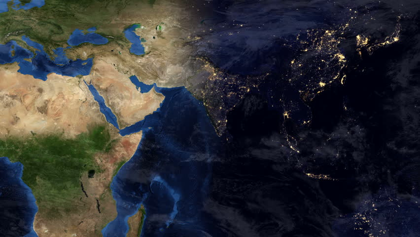 Highly Detailed Timelapse Of European Map Using Satellite Imagery - World map by satellite of india