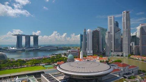 SINGAPORE - CIRCA APRIL 2015: 4K Cityscape, Singapore skyline, time-lapse.