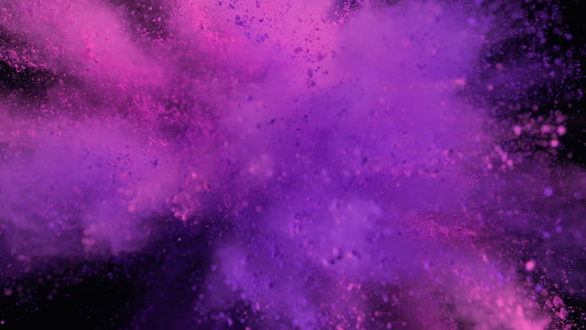 Powder exploding against black background. Shot with high speed camera, phantom flex 4K. Slow Motion. Unedited version is included at the end of clip. | Shutterstock HD Video #9761783
