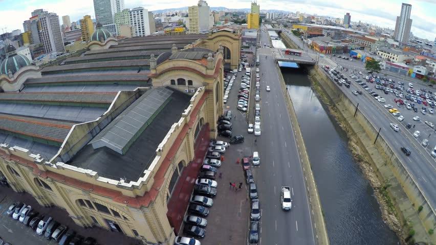 Aerial View from Mercado Municipal in Sao Paulo, Brazil   Shutterstock HD Video #9767423