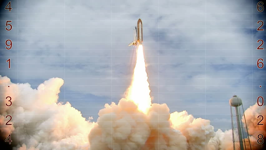 Launching of a rocket into space- countdown, Video clip | Shutterstock HD Video #9770831