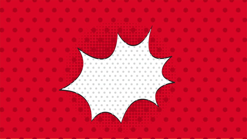 Red dotted background, pop art style,  Video animation, HD 1080
