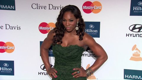 Beverly Hills, CA - February 11,2012: Serena Williams at Pre-Grammy Gala 2012, Beverly Hilton Hotel