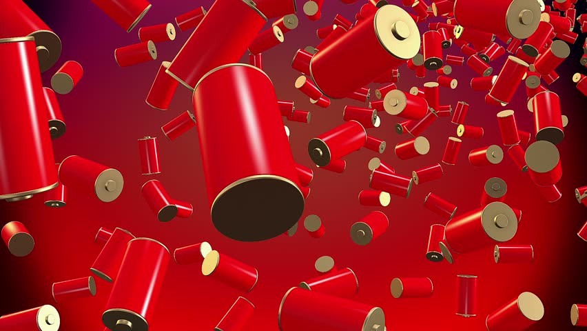 Abstract batteries in red and gold colors   Shutterstock HD Video #9815273