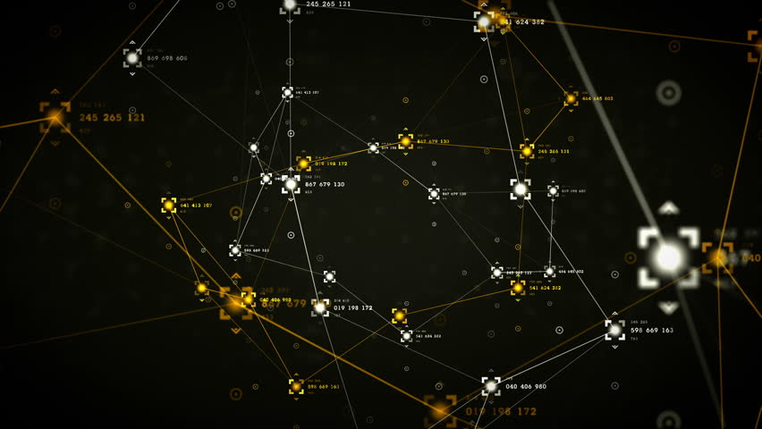 An abstract representation of the nodes and connection paths within networks or systems of networks. All clips are available in multiple color options. All clips loop seamlessly.  | Shutterstock HD Video #9841883